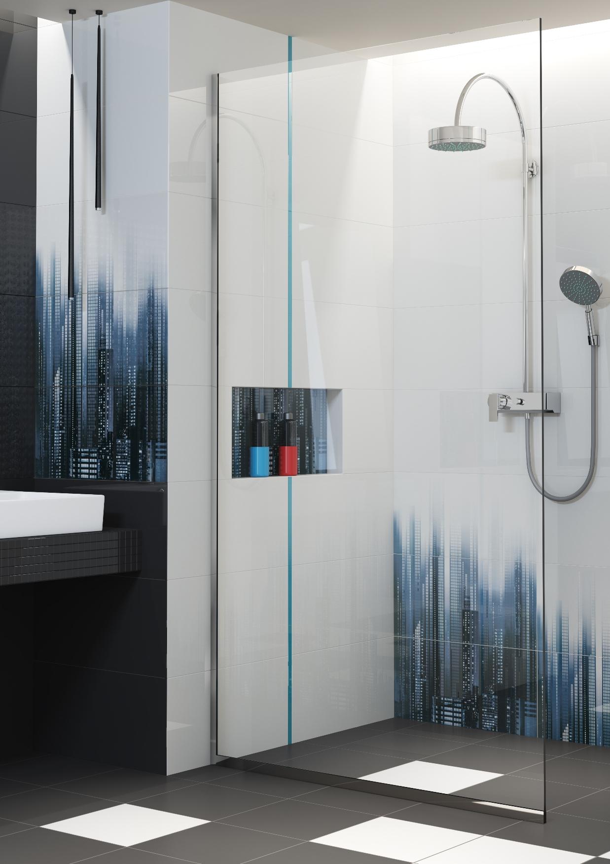 Czarno Biała łazienka Inspiracje świat Na Obcasach