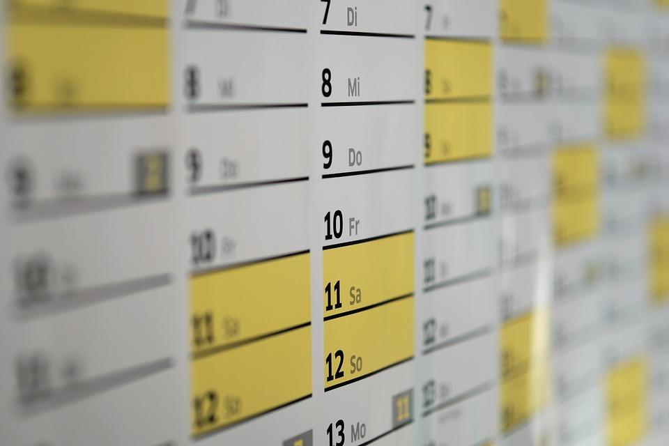 kalendarz planowanie czasu