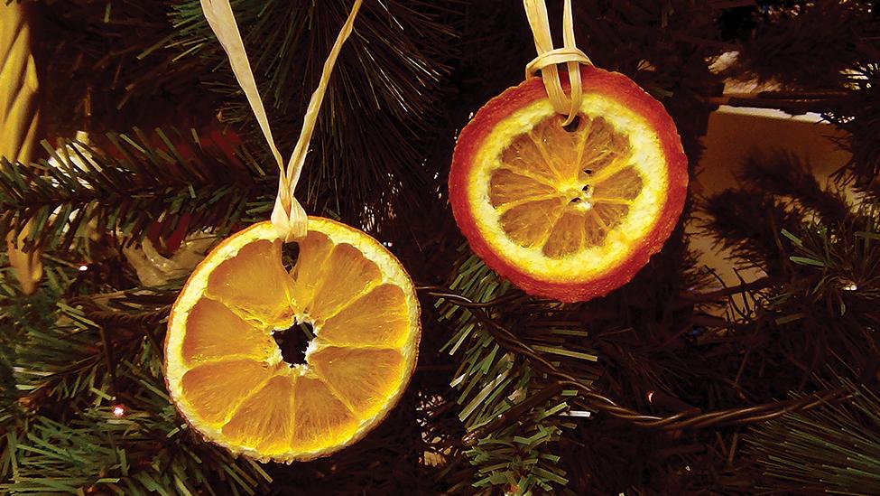 Pomarańcze na choince