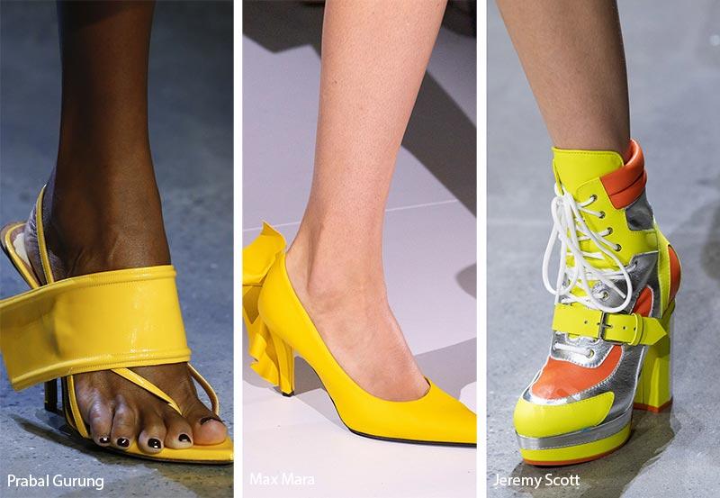 neonowe sandaly damskie