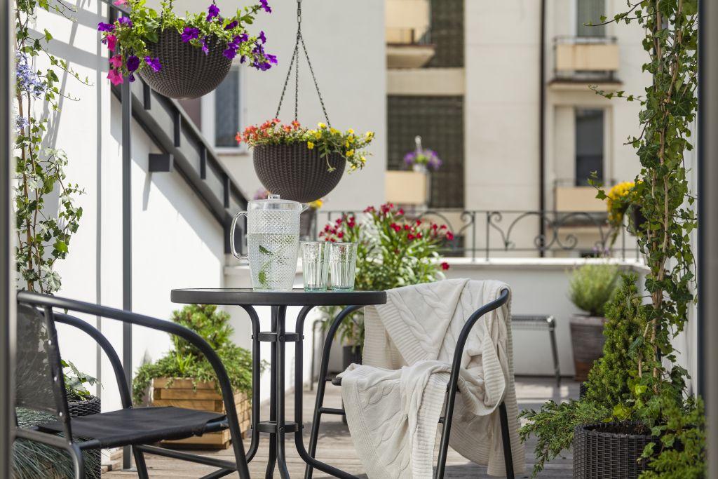 balkon w stylu loft